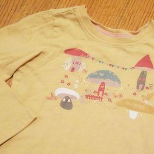 Hanna Andersson Yellow Mushroom Toadstool Shirt